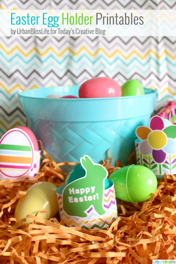 Free Printable Easter Egg Holders | Free Easter printables | Decorative egg holders to display your creative dyed Easter eggs | Designed by UrbanBlissLife for TodaysCreativeLife.com