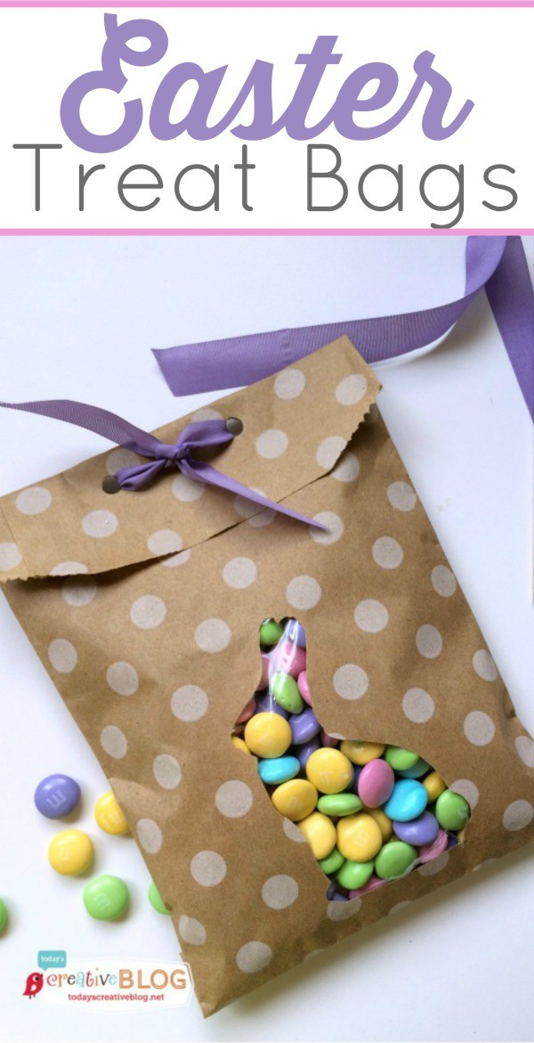 Easter Treat Bags | Make your own DIY Easter Bags for a quick gift idea. | paper crafting for Easter | Easter craft | TodaysCreativeLife.com