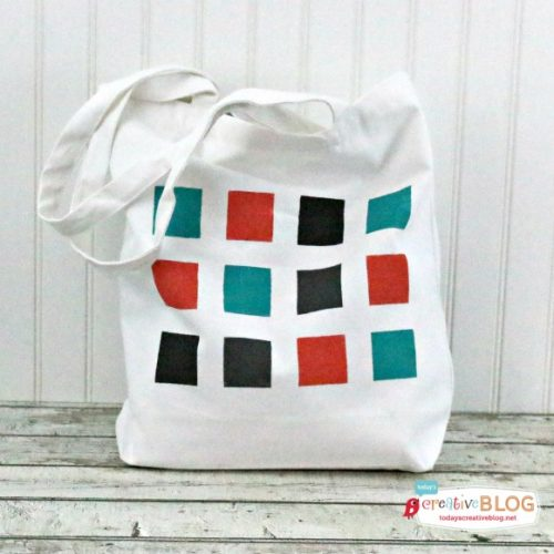 DIY Color Block Geometric Tote from eBook Happy Handmade | TodaysCreativeBlog.net