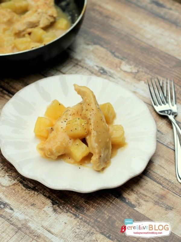 One Skillet Sweet Pineapple Chicken | TodaysCreativeblog.net