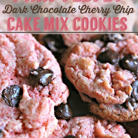 Pink Velvet Cherry Chip Cookies