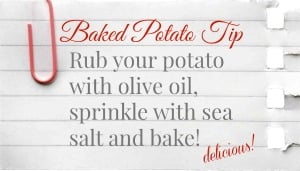 How to Bake a Delicious baked potato | TodaysCreativeBlog.net