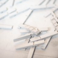 DIY Bright White Clothespins with Gold Coil