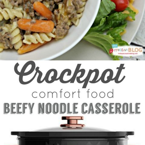 Crockpot Beefy Noodle Casserole