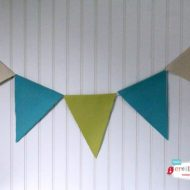 Easy No Sew Fabric Bunting