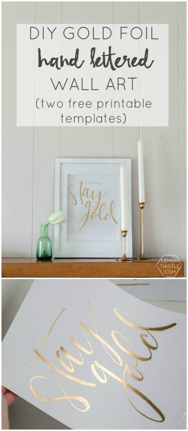DIY Gold Foil St. Patrick's Day Prints | Free printable for St. Patrick's Day. Decorate with a hint of gold. TodaysCreativeLife.com