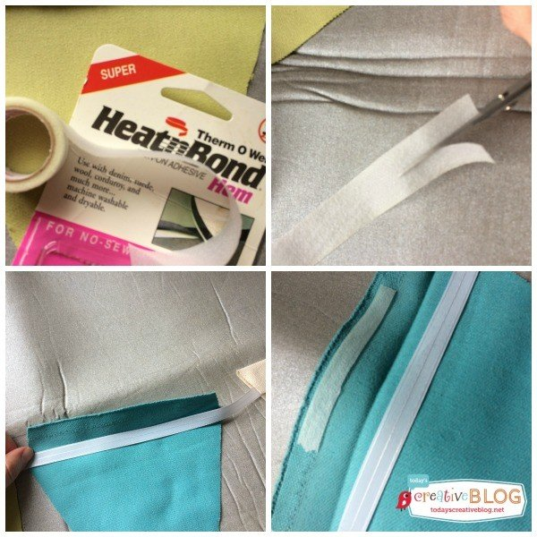 Easy No Sew Fabric Bunting | TodaysCreativeBlog.net
