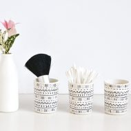 DIY Mud Cloth Inspired Votives
