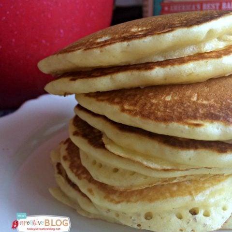 Cake Flour Pancakes Recipe | TodaysCreativeLife.com