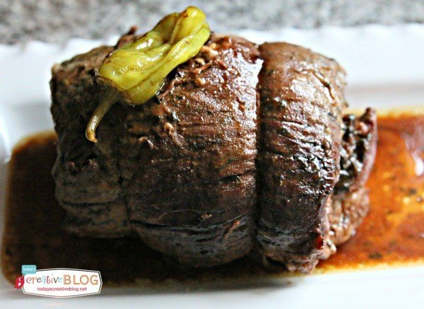 Slow Cooker Mississippi Roast Recipe | See more Crock Pot Recipes on TodaysCreativeLife.com