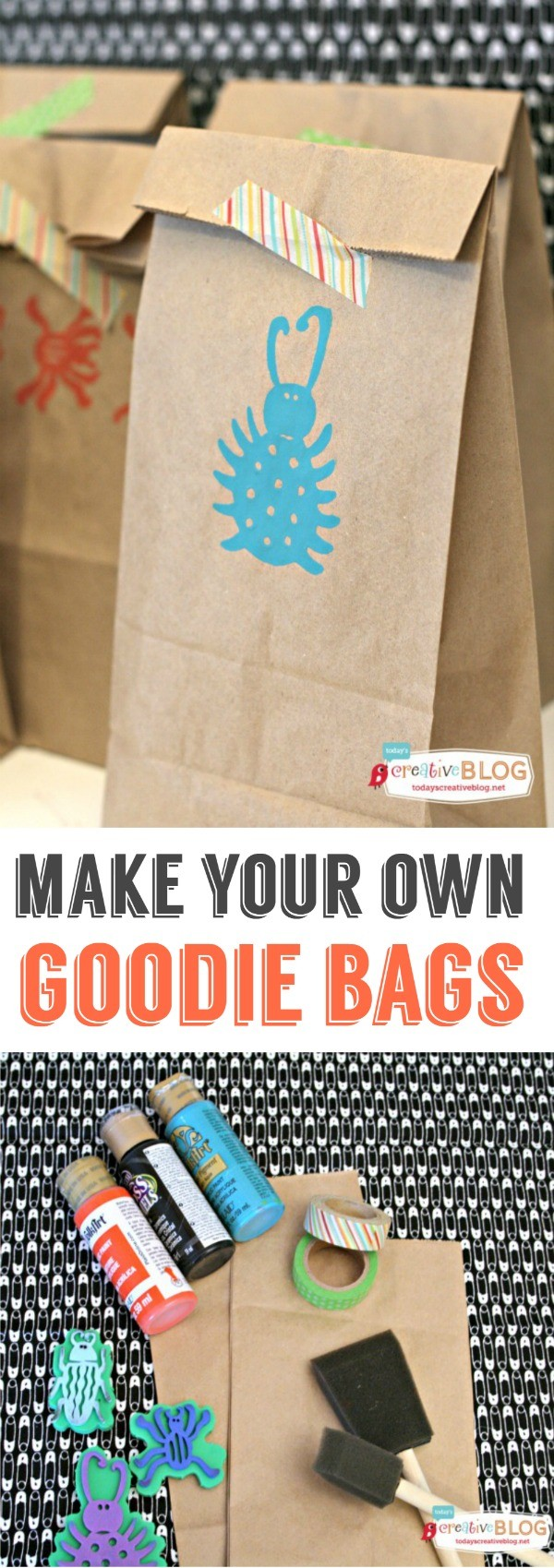 DIY Birthday Goodie Bags - Make your own goodie bags or gift wrap the simple way! See more creative ideas on TodaysCreativeBlog.net