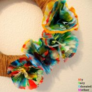 Coffee Filter Flower Wreath Tutorial