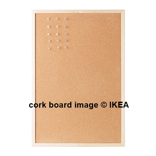 stenciled cork memo board today 39 s creative life. Black Bedroom Furniture Sets. Home Design Ideas