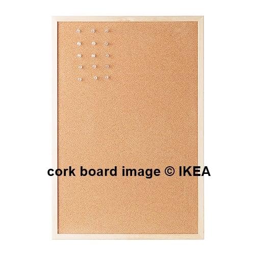 Stenciled cork memo board today 39 s creative life for Ikea cork board