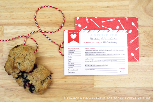 Free Printable Recipe Cards are great to give as a hostess gift when attending a potluck. Carry a few extra for anyone who asks for the recipe. | TodaysCreativeblog.net