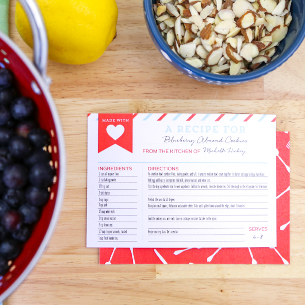 FREE Printable Recipe Cards make a great addition to any potluck meal. Carry a few extra to hand out to anyone asking for the recipe. Find more free printables on TodaysCreativeBlog.net