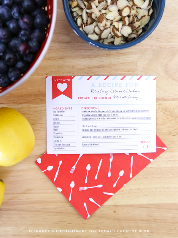 Free Printable Recipe Cards make great gifts, attach to a potluck dish, or a meal being delivered. Find more free printables on TodaysCreativeLife.com