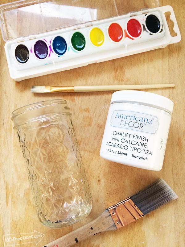 Watercolor Chalk Painted Vase by Jen Goode   TodaysCreativeBlog.net
