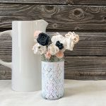 Watercolor Chalk Painted Vase by Jen Goode | TodaysCreativeBlog.net