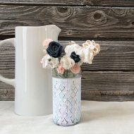 Watercolor Chalk Painted Vase