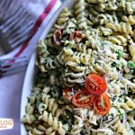 Pesto Pea Pasta Salad Recipe  Find more side dish recipes on TodaysCreativeBlog.net