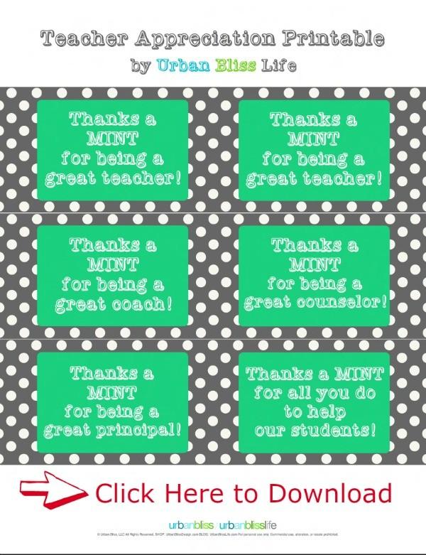 Free Teacher Appreciation Week Printable - Today's ...