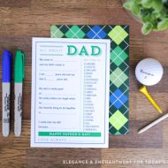 Fill in the Blank Father's Day Cards