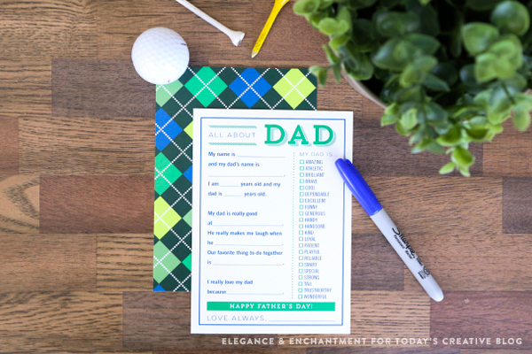 Printable Father's Day Cards | Fill in the blank | TodaysCreativeLife.com