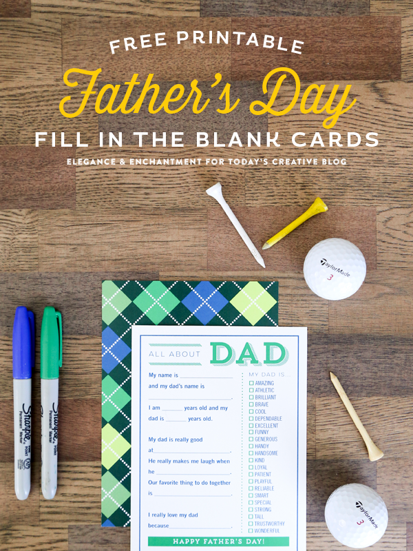 Fathers Day 2015 Printables - Vertical