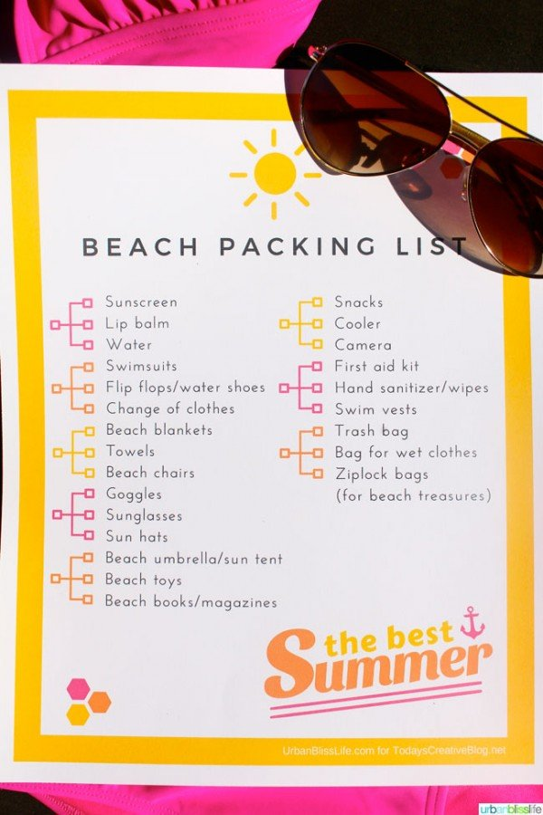 Free Printable Beach Vacation Packing List Today S