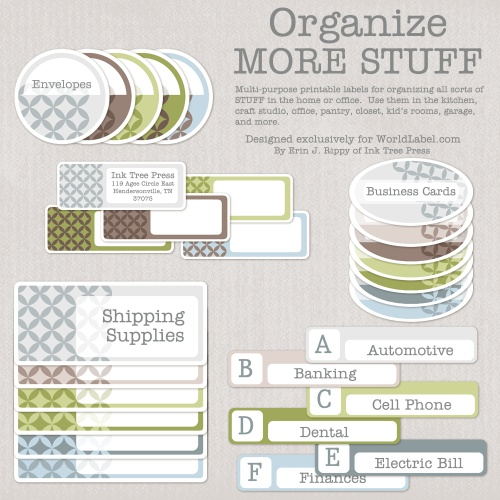 Free Organizing Printable Labels from World Label | TodaysCreativeLife.com