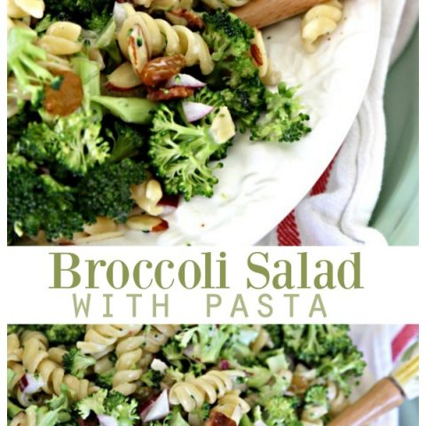 Broccoli Salad with Pasta | This fresh salad is great for spring and summer as a side or main dish. See the recipe on TodaysCreativeLife.com