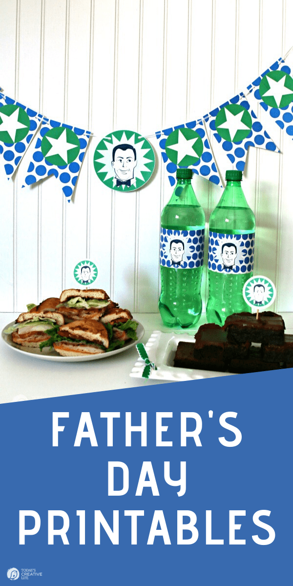 Father's Day Printables for a banner and bottle wrappers