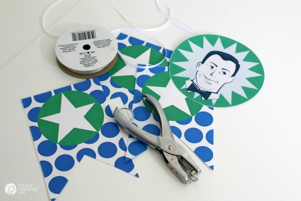 Father's Day Printables for quick celebrations! Printable Father's Day Banner, Bottle wrappers and food picks | See more printables on TodaysCreativeLife.com