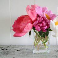 DIY Glittered Vase