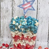 Red White & Blue Patriotic Popcorn | 4th Of July | See the recipe on TodaysCreativeLife.com