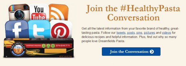 ... here to get a free $1 off coupon to try Dreamfields Pasta products