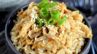 Slow Cooker Orange Chicken & Rice Bowls
