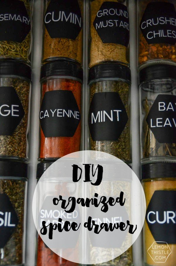 DIY Spice Drawer Organizing Ideas | See more creative ideas on TodaysCreativeLife.com
