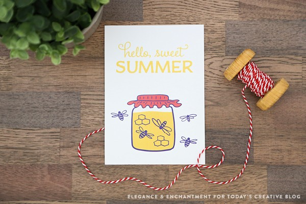 Summer Art Free Printable | Printable wall art, also great for gift tags using your printer settings. See more creative ideas on TodaysCreativeLife.com