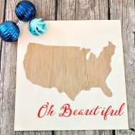 DIY Patriotic USA Wall Art