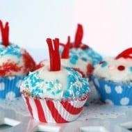 Buttermilk Firecracker Cupcakes