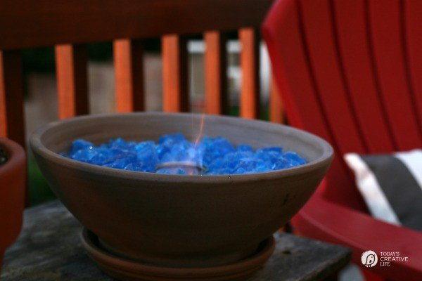 DIY Tabletop Fire Bowl | Patio ideas on TodaysCreativeLife.com