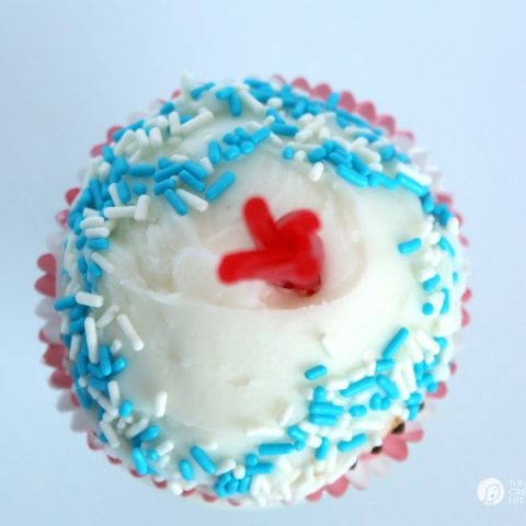 Buttermilk Firecracker Cupcakes