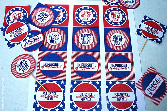 Last Minute 4th of July Party | free printables and more on TodaysCreativeLife.com
