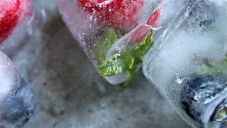 Fruit Filled Ice Cubes