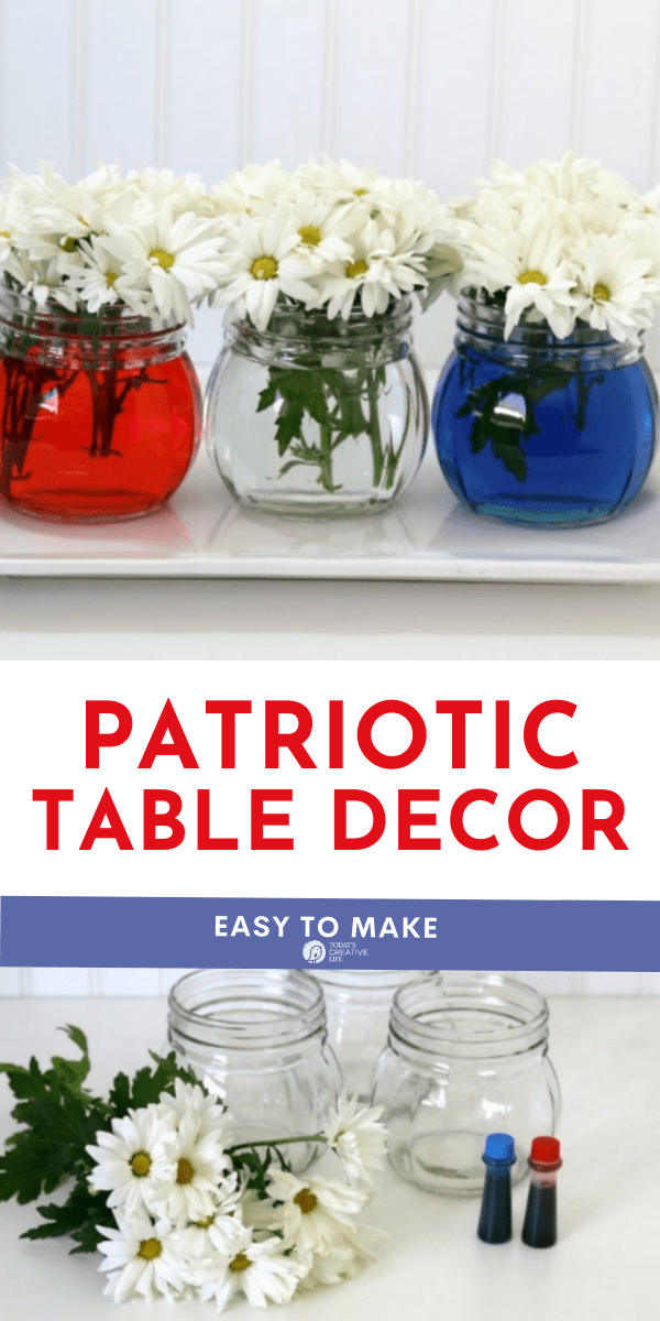 Photo collage for patriotic Table Decor