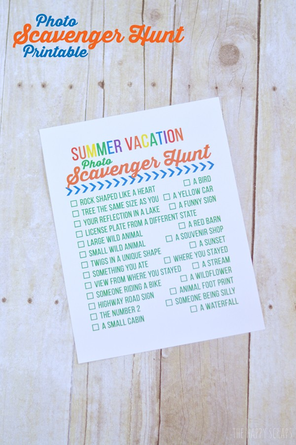 Printable Scavenger Hunt Summer Printable.