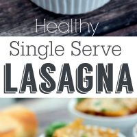Single Serve Healthy Lasagna
