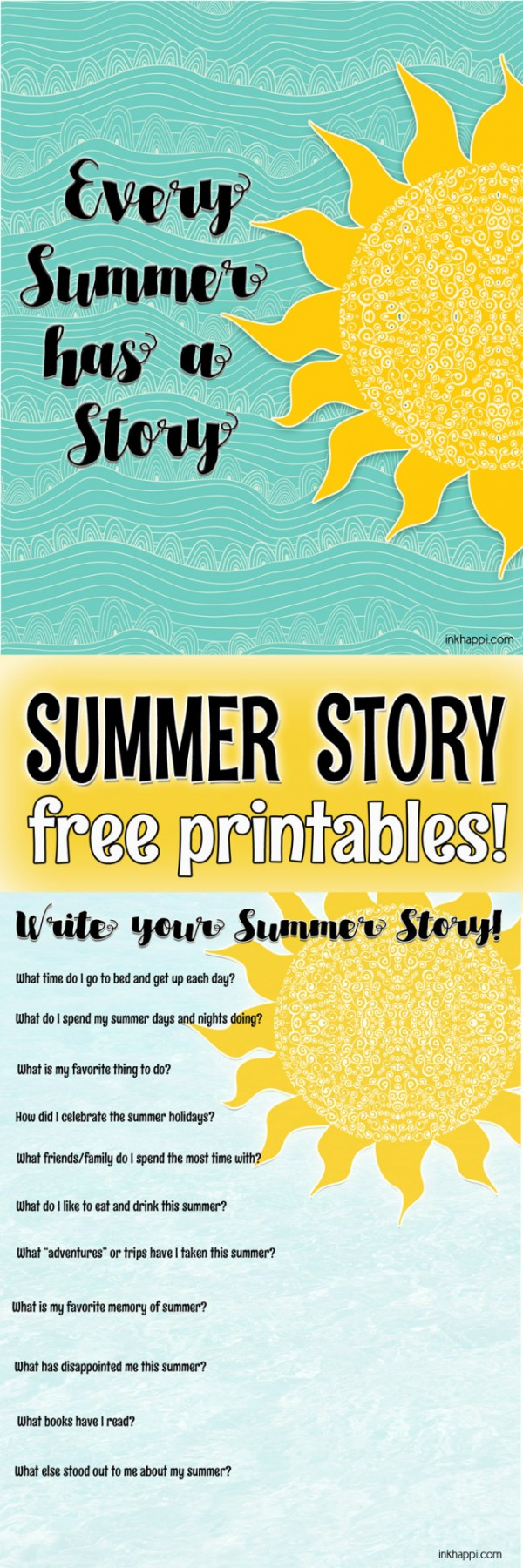 Printables for Summer | Free printables for summer by inkhappi | See more creative ideas on TodaysCreativeLife.com